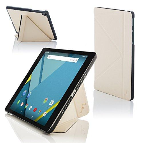 Forefront Cases® Google Nexus 9 8.9 Zoll Origami Hülle Schutzhülle Tasche Bumper Folio Smart Case Cover Stand - R&um-Geräteschutz & intelligente Auto Schlaf/Wach Funktion (WEIß)