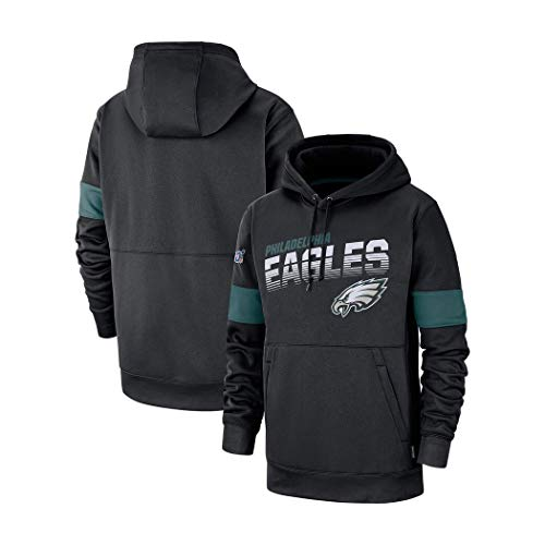 LELEHoodies Männer Kapuzenpulli Pullover for Philadelphia Eagles Football-Sport-Shirt (Color : Black, Size : XXL)