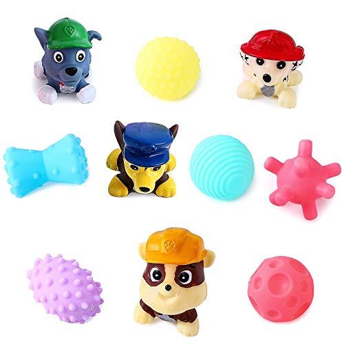 YNK Badespielzeug, 10 Stücke Badewanne Pool Spielzeug, Badewannenspielzeug Baby, Badespaß Wasserspielzeug im Badewanne für Kleinkinder ab 2 Jahre für Badewanne Dusche Pool