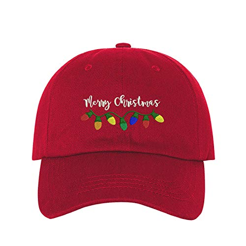 Merry Christmas Baseball Cap- Christmas Party Hats Unisex (Red)