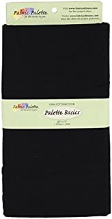 Fabric Editions 2-Yard Pre-Cut Fabric Palette, 42 by 72-Inch, Black