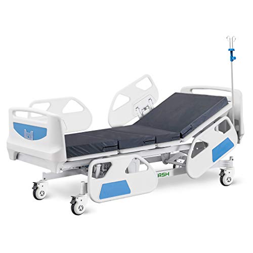 Hospital Bed Electric ICU Bed for Home and Hospital use (with IV Pole)