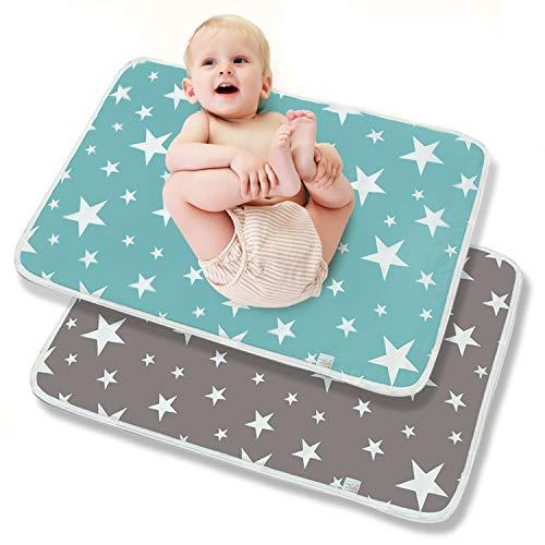Cambiador de Bebé Pañales Portátil Plegable Almohadilla Impermeable Para Niños Adultos Y Mascotas Cambiador para Bebés Reutilizable Impermeable Lavable 2 piezas 50 x 70cm