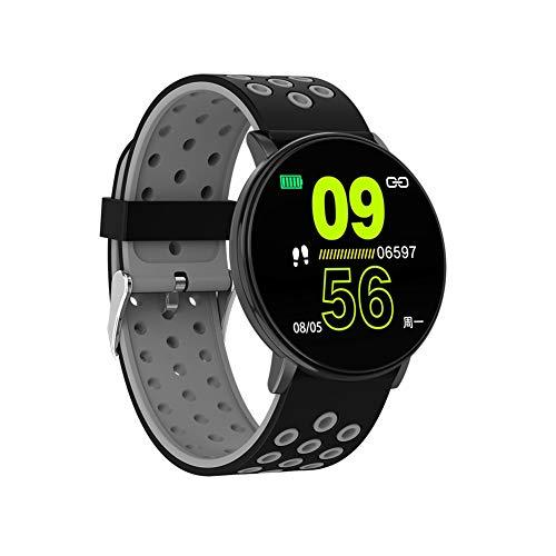 Cracklight - Reloj Inteligente con cronómetro, Contador de Pasos, calorías, Reloj Deportivo de 1,3 Pulgadas, pulsómetro, Monitor de Fitness, para Hombres y Mujeres
