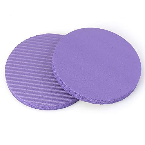 TIMAW 1 par de rodilleras redondas y gruesas, ideales para yoga, deportes, fitness, deportes, protección antideslizante, 175 x 15 mm (color: morado 175 x 15 mm)