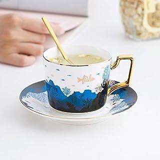 1 قطعة سيراميك كأس القهوة مجموعة الحديثة الأوروبية صحن شاي اسبرسو القدح مجموعة الشمال المنزل اكواب