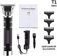 [MAR]電動 バリカン 低ノイズ USB充電式ヘアカッター 大容量1400 mAh 精密彫刻 レトロバリカン 3つの制限ブラシが付属 男性用・子供・家庭・業務用 バリカントリマーセット (9)