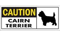 CAUTION CAIRN TERRIER ワイドマグネットサイン:ケアーンテリア Mサイズ