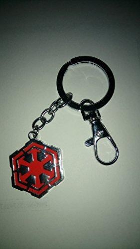 Schlüsselanhänger Logo Imperium Star Wars Rot Massiv Metal