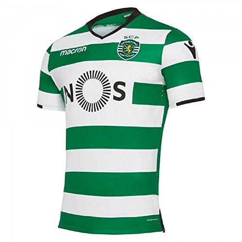 Macron Sporting Lissabon Home Jersey 17/18 Sporting Clube de Portugal Heim Trikot, Größe:XL