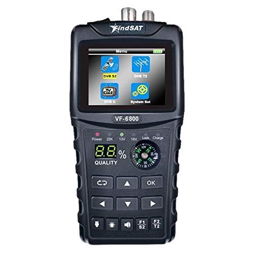Cobeky VF-6800 - Medidor de satélite para receptor de televisión vía satélite DVB-T2/S2/C