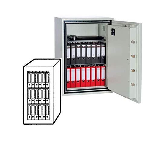 Sistec Wertschutzschrank SE 3 LFS 120/0, Doppelbartschloss mit 2 Schlüsseln, Grad 3 nach EN 1143-1, 30 Minuten Brandschutz, H120xB62xT58 cm, 630 kg