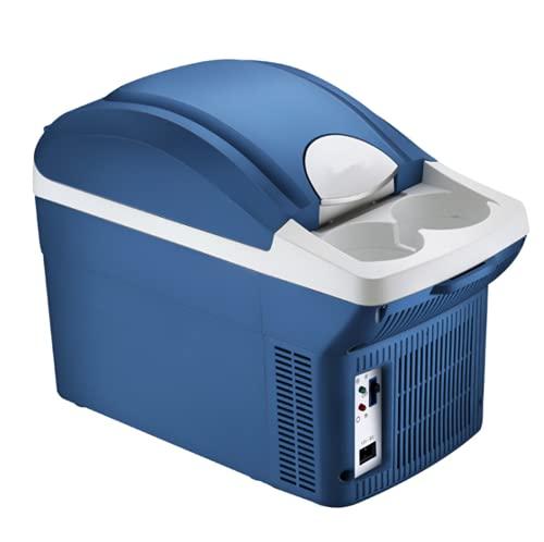 LVYE1 MRMF Mini Refrigerador 8L, Nevera Portátil para Coche Y Casa, Mini Refrigerador Y Calentador De Refrigerador, Ahorro De Energía, Silencioso, para Frutas, Alimentos, Cosméticos, 12V / 220V
