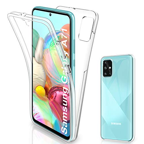 Gnews Samsung Galaxy A71 Hülle, Samsung Galaxy A71 Schutzhülle 360 Grad Full Body Front Und Rückenschutz Handyhülle Transparent Schutzhülle Durchsichtige Bumper für Samsung Galaxy A71