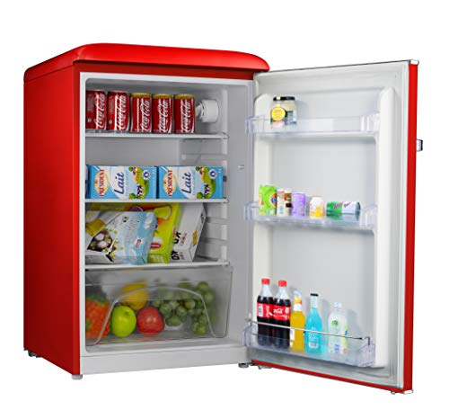 Galanz GLR44RDER Retro Refrigerator, 4.4 Cu Ft, Red