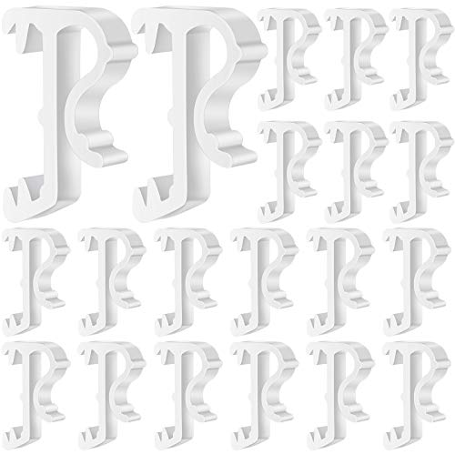 Jetec Blind Valance Clips 1 Inch Window Blind Clips Hidden Valance Clips Clear Plastic Valance Retainer Clips Window Valance Clips (20)