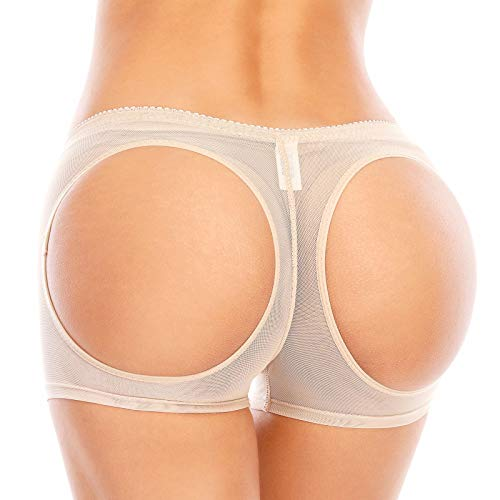 Dulchany Women Butt Lifter Shapewear Body Shaper Hip Enhancer Control Panties Seamless Butt Lifter Boy Shorts Nude