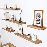 Inman Home - Scaffale in legno di quercia massiccio rustico, 30,5 cm, con staffa a scomparsa, per appendere alla parete, scaffale da appendere alla casa, libreria, libreria