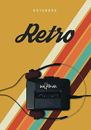 Notebook Retro walkman : 7*10 inches lined notebook | 120 pages | retro style walkman music | Carnet de notes lignes: Notebook | Retro | walkman | ... | retro style walkman music | 120 pages