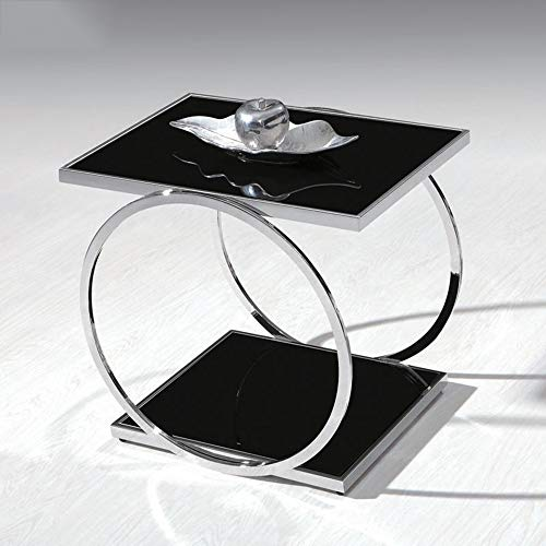 Bureau DD moderne minimalistische telefoon gehard glas telefoonstandaard bank hoek/zijkant/vierkante kleine salontafel in de woonkamer -werkbank