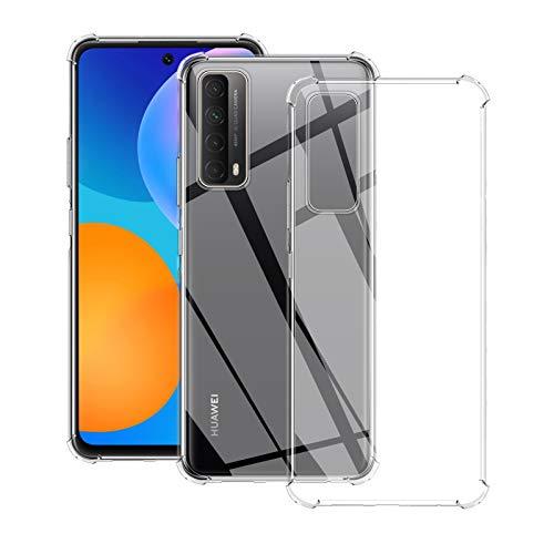 QULLOO Hulle fur Huawei P Smart 2021 Transparent TPU Hulle Schutzhulle Crystal Case Durchsichtig Klar Silikon Cover fur Huawei P Smart 2021