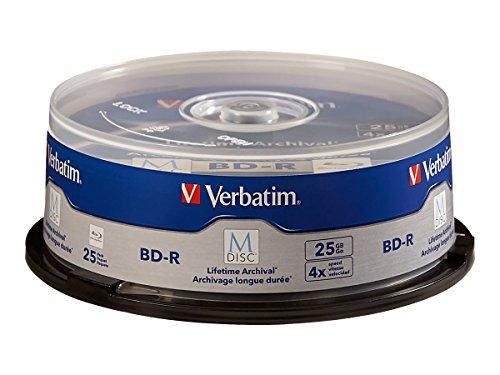 Verbatim 98809 M-DISC BD-R 25GB/1-4x, 25-Disc Cakebox