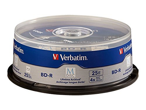 Verbatim 98809 M-DISC BD-R 25GB/1-4x, 25-Disc Cakebox