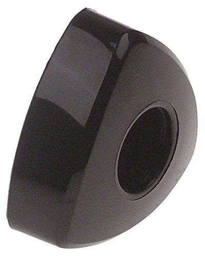 Vibiemme Drehgriff für Kaffeemaschine Domobar-Super-Manuale, Domobar-Super ø 40mm schwarz für Achse 6x6mm