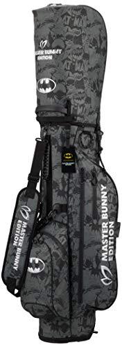 [マスターバニー] ゴルフ用 キャディバッグ 【 BATMAN コラボ 】 バットマン 総柄 軽量キャディバッグ(9inch・kg・46インチ対応) 010_ブラック