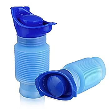 EEEKit Shrinkable Urinal,750ML Male Female Portable Mobile Toilet Potty Pee Urine Bottle,Reusable Emergency Urinal for Camping Car Travel Traffic Jam and Queuing