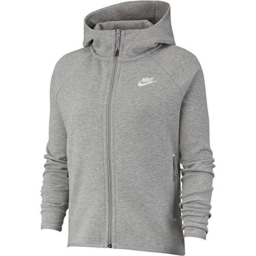Nike Damen Sportswear Tech Fleece Jacke S Dunkelgrau meliert / Silber matt / Weiß
