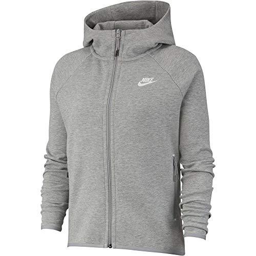 Desconocido Nike Sportswear Tech Fleece Jacke für Damen L Dunkelgrau meliert / Silber matt / Weiß