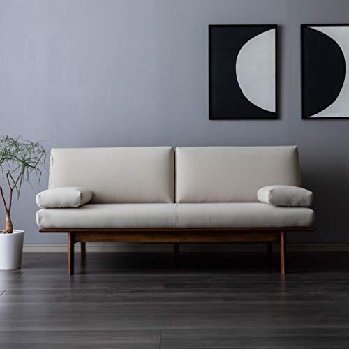 【カリモク正規品】ソファー 3人掛け 長椅子 ベージュ 幅179cm 平織布張 karimoku WG3003IAK