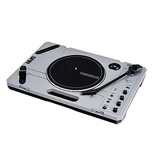 Reloop SPIN - Portabler Plattenspieler für Vinyl-Liebhaber & Scratch-Künstler, Überragend für mobiles Scratching und Cutting, Bluetooth Audio Streaming, grau