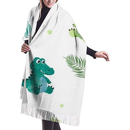 Cathycathy Leuke aquarel krokodil voor kinderen wikkelen winter warme sjaal cape grote zachte sjaal wikkelen