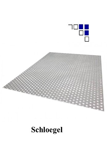 1mm Aluminium Lochblech Rv3-5 Länge 1000mm (700x1000)