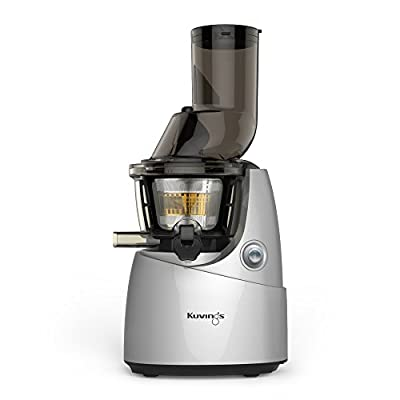 Kuvings Whole Slow Juicer with BPA-Free Components B6000SR Silver- Extra Wide Feed Chute- Reducing prep time by 40%-10 Year Limited Warranty- includes Sorbet and Smoothie Strainer by Kuvings