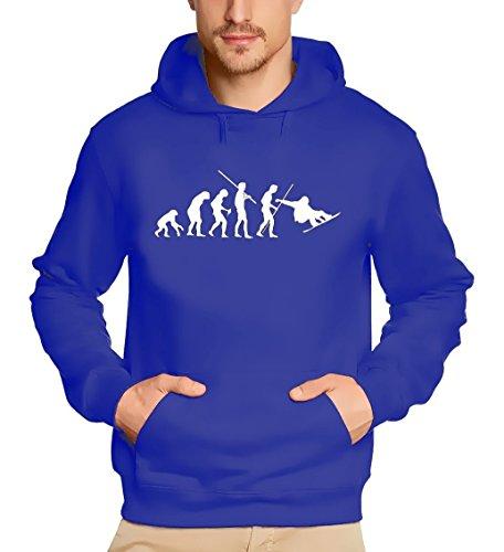 Coole-Fun-T-Shirts Sweatshirt SNOWBOARD Evolution Hoodie, blau, M, 10719_Blau-Hoodie_GR.M