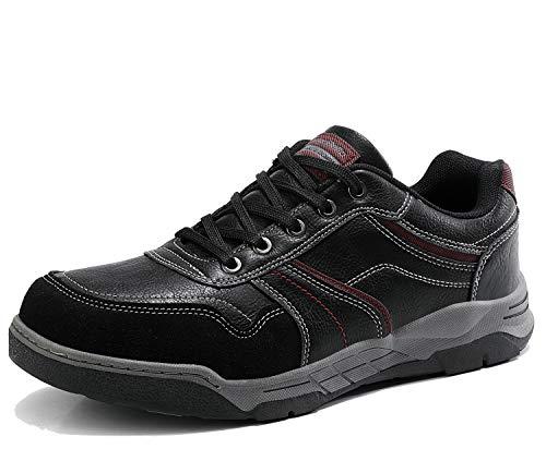 AX BOXING Freizeitschuhe Herren Walkingschuhe Berufsschuhe Sneaker Wanderschuhe Trainers(44 EU, Dunkles Schwarz)
