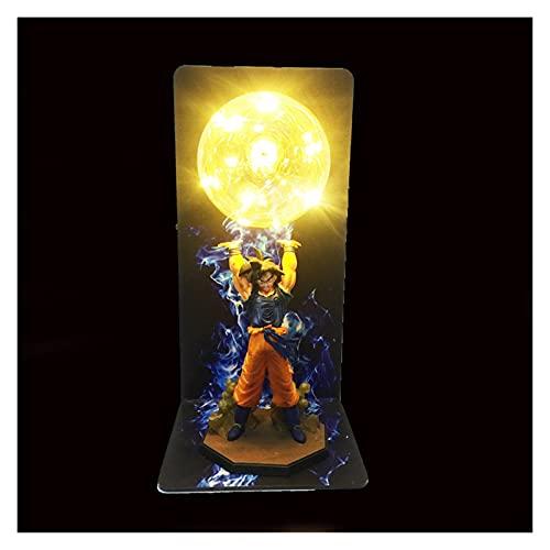 MOLUO Lámpara luz Nocturna niños Lámpara LED Goku Fuerza Bombas Luminaria Lámpara de Mesa DBZ Luces Decorativas Niños Niños LED Luz Luz de Noche para Dormitorio (Emitting Color : Yellow)