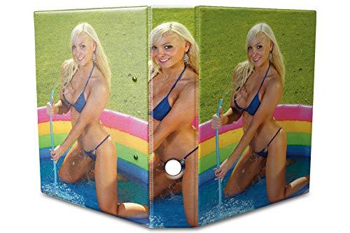 Motiv Akten Ordner Bedruckt 60mm DIN A4 Blondine Pool