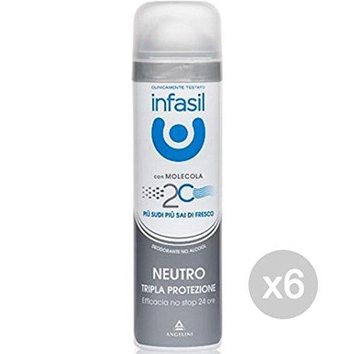 Juego 6Infasil Desodorante Spray Triple Protección neutro ml 150Cuidado e higiene del cuerpo