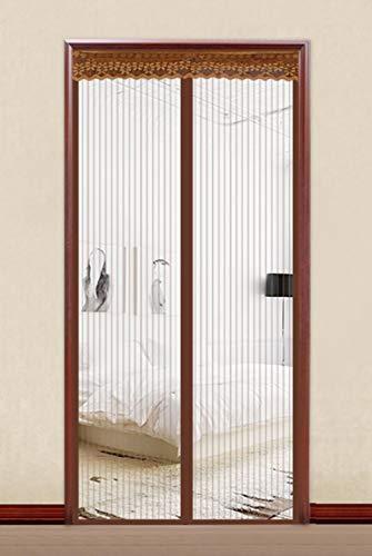 Transparente El imán de Cortina de Puerta Simple de Verano se Cierra automáticamente-Flequillo_Los 80 * 205cm