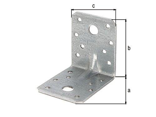 Winkelverbinder 70 x 70 x 55 x 2,5 mm für Schwerlast mit Sicke Steg Winkel - 10 Stück