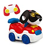 Kiddolab 2-in-1 Puppy Racer - Remote Control Dog & Car Interactive Toy - Straight Driving Car Mode, Wobbling Doggy Mode - Fun Musical Toys with Lighted Eyes - for Boys & Girls 18 Months Old & Above