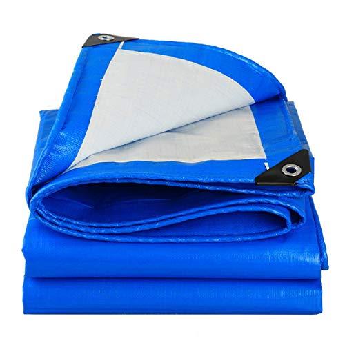 3×3M Lona Gris Azulada Impermeable Resistente Multiusos Cubierta Universal Con Cordón Y Ojales De Grosor 0,28 MM Fabricada Con 160g / Metro Cuadrado De PE