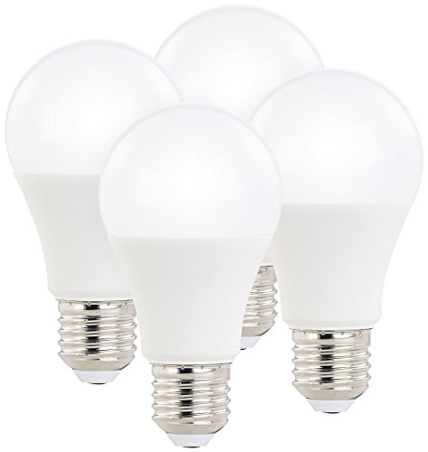 Luminea LED Lampe dimmbar E27: 4er-Set LED-Lampen, 3 Helligkeits-Stufen, 10W, 810lm, E27, 2700K, A60 (Leuchtmittel mit dimmender LED)