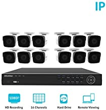 LaView 1080P HD IP 12 Camera Security System 16 Channel PoE 1080P NVR with a 6TB HDD Indoor/Outdoor Cameras Day/Night Surveillance System with Remote Viewing