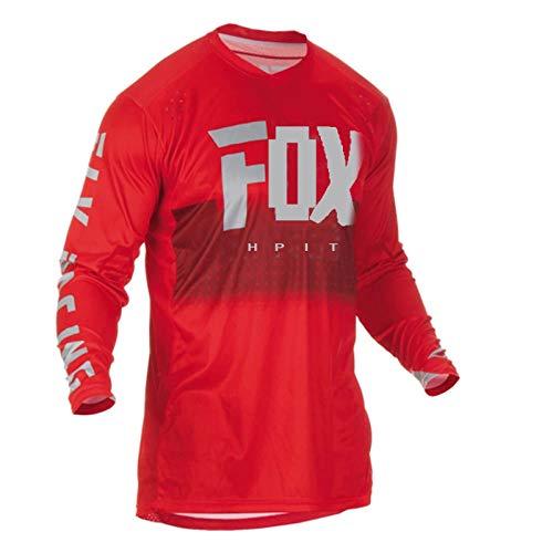 LGGJJYHMY Jerseys de Descenso para Hombre hpit Fox Camisas MTB de Bicicleta de montaña Offroad DH Jersey de Motocicleta Motocross Ropa Deportiva Ropa FXR Bike-L