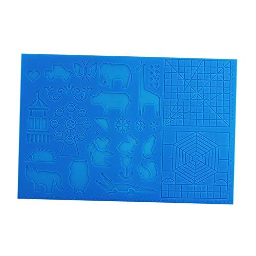 kowaku Pluma de Impresión 3D Dibujo Plantilla de Alfombrilla de Silicona Tablero de Copia Plumas 3D Herramientas de Dibujo